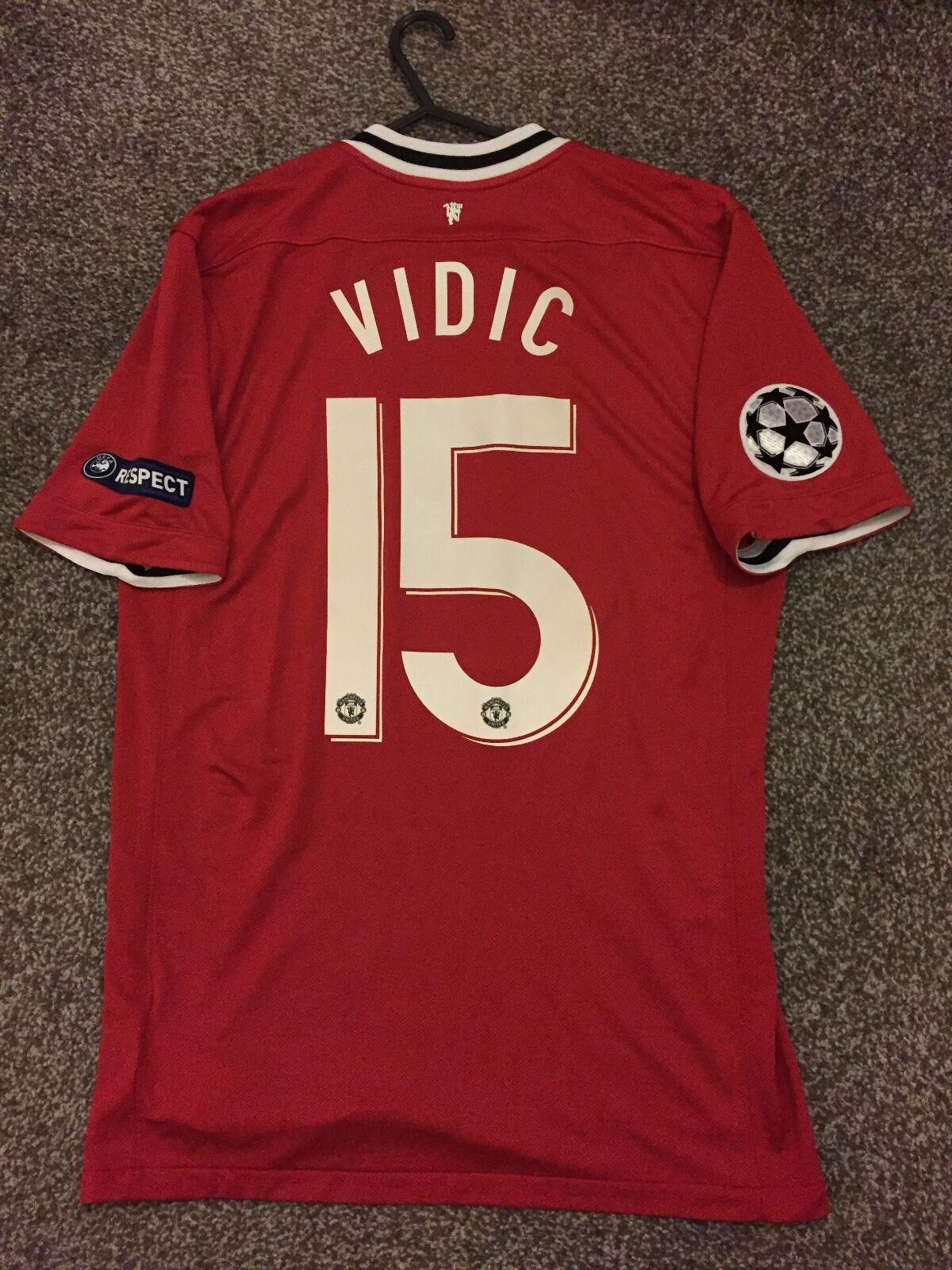 Manchester United 201112 CHAMPION LEAGUE maglietta adulti M 15 VIDIC