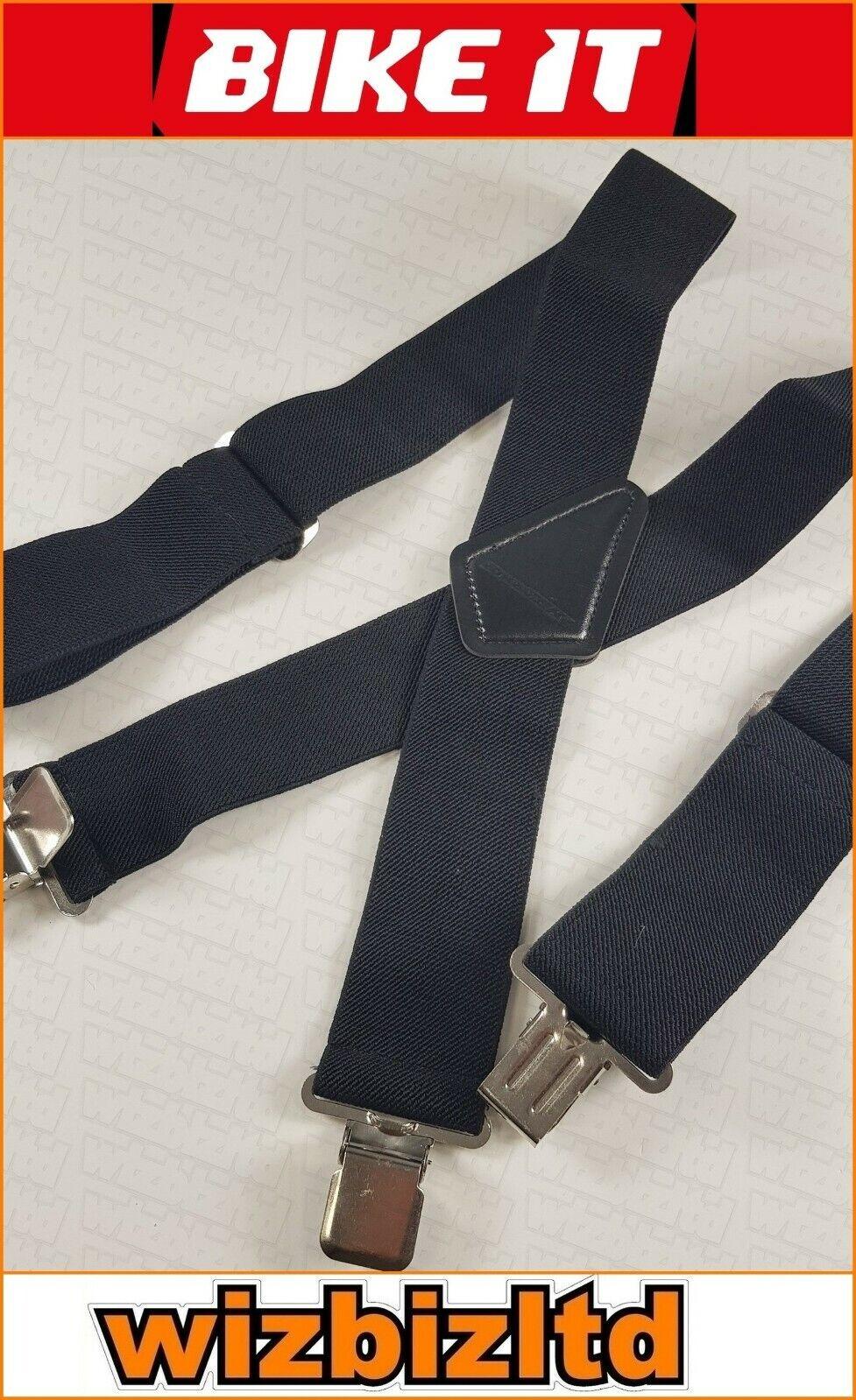 Elastisch Hosenträger Für Motorrad Fahrer Hose (Textil und Leder) Brcblk