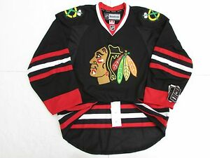 CHICAGO BLACKHAWKS AUTHENTIC THIRD BLACK REEBOK EDGE 2.0 7287 HOCKEY ... 9ce119e31aa