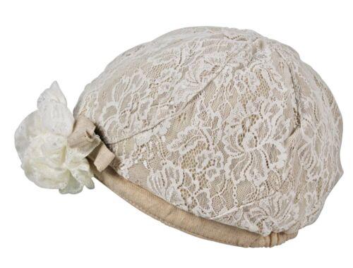 Merdi Co.Crochet Dentelle Fleur Noeud Paillette Uni Pic Cloche Doublé Chapeau