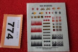 Games Workshop Warhammer 40k Ork Orks Bommer Transfers Bommerz Sheet Decals New
