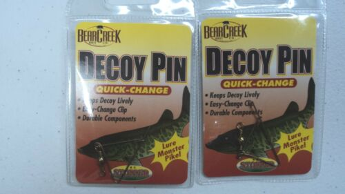 Quick and Easy Change Clip #DP-1 You Get TWO Pins Bear Creek Decoy Pins
