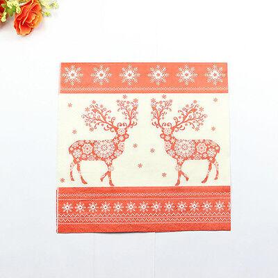 1 Pack 20 PCS Christmas Series Colorful Party Paper Napkin 33X33CM Pattern 11