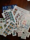 Lot 8 United States MNH blocks, multiples and singles about $108.00 face