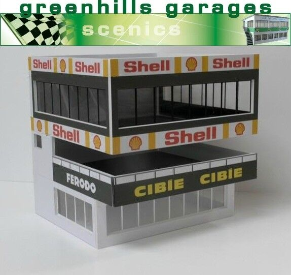 Greenhills Scalextric Slot Car Building Le Mans ACO Towers Kit 1 32 Scale - B...