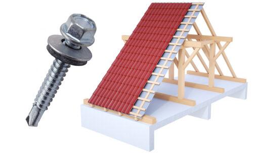 250 Trapezblech Schrauben Trapezbleche Profilbleche 4,8x35 Verzinkt Dach