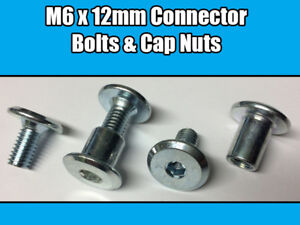 Image Is Loading M6 X 12mm Furniture Connector Bolts Amp Nut
