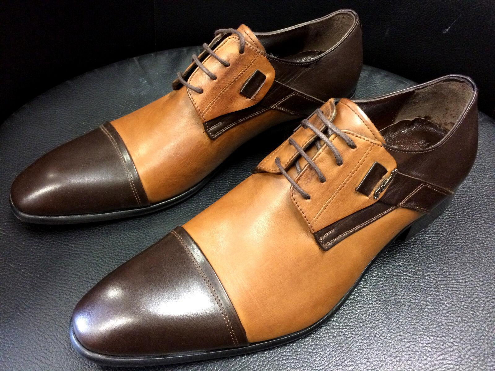 Pablo Picasso zapatos italiano Designer Slipper Handmade marrón claro Business