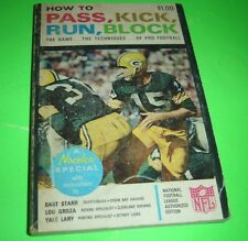 How To Pass Kick Run Block The Game Techniques Of Pro Football 1965 PB Bart Star