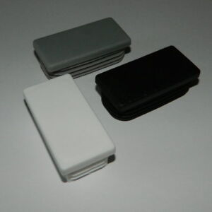 10 Stck Rechteckstopfen 120x60 mm Grau Kunststoff Lamellenstopfen Abdeckkappe