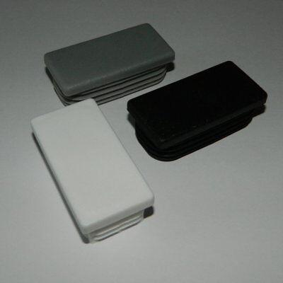 10 Stck Rechteckstopfen 50x30 mm wei/ß Kunststoff Lamellenstopfen Abdeckkappe