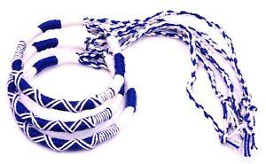 Lot de 3 Bracelet brésilien Amitié Coton Macramé Porte Bonheur blanc bleu