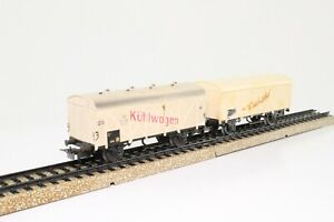 2-x-Marklin-4908-4508-H0-Kuhlwagen-Guterwagen