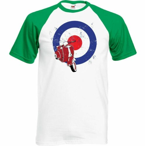 Details about  /Scooter T-Shirt Vespa MOD Logo Mens Funny Lambretta Bike Retro Distressed