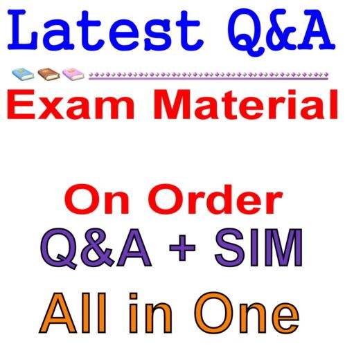 Order Request Exam Q/&A PDF+SIM