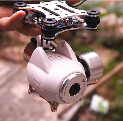 DJI Phantom 2 Vision FC200 gopro 3/4 2-axis Brushless Gimbal FPV Ready for use