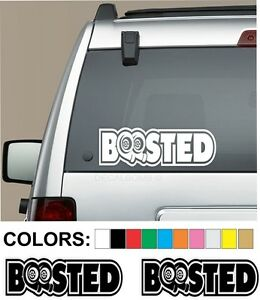 2-Boosted-Turbo-Decals-Stickers-12-034-x-4-034-Vinyl-Mud-Race-Truck-Diesel-Car-Drift