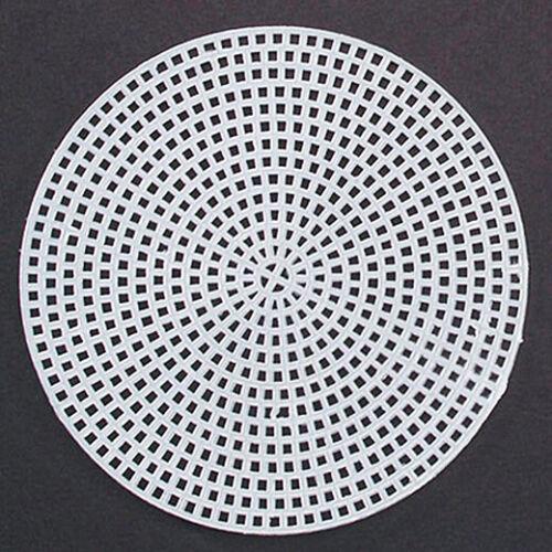 "Clear 4 1//4/"" Plastic Canvas Circles 8 pc."