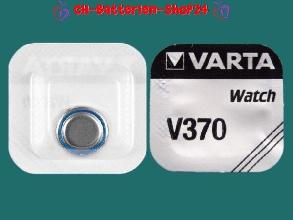 1 X Varta V370 Sr920w Sr69 Sr920 1,55v Uhrenbatterien Silberoxid Knopfzelle Farben Sind AuffäLlig