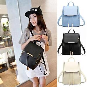 Fashion-Women-Ladies-Girls-Backpack-PU-leather-Schoolbags-Travel-Shoulder-Bag-UK
