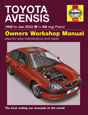 4264 Haynes Toyota Avensis Petrol (1998 - Jan 2003) R to 52 Workshop Manual