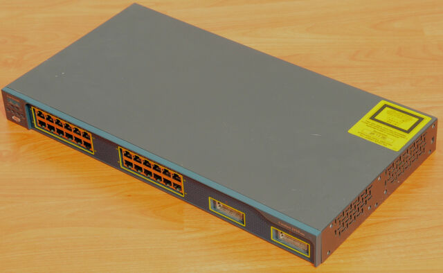 Cisco WS-C2950G-24-EI Switch 24 Ports 10/100 + 2 GBIC w/ Racks 6MthWtyTaxInv