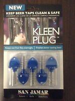 5 Pack San Jamar Kleen Plug Draft Draught Beer Tap Cap Cover Plug & Brush