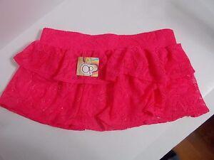 b9767228f6 Op Hot Pink Sheer Lace Skirt Swim Cover-up Size M (7-9) 847687080952 ...