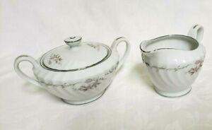 Vintage-Gold-Standard-Japan-Genuine-Porcelain-China-Creamer-amp-Sugar-Bowl-w-Lid