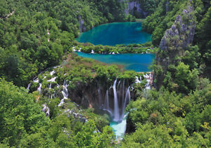 Details about Blue Lake Waterfall Nature 3D Full Wall Mural Photo Wallpaper  Home Decal Dec Kid