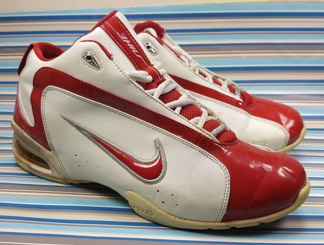 VINTAGE NIKE AIR 310625 161 BASKETBALL SNEAKERS SHOES, LEATHER, MENS BOOTS 10.5