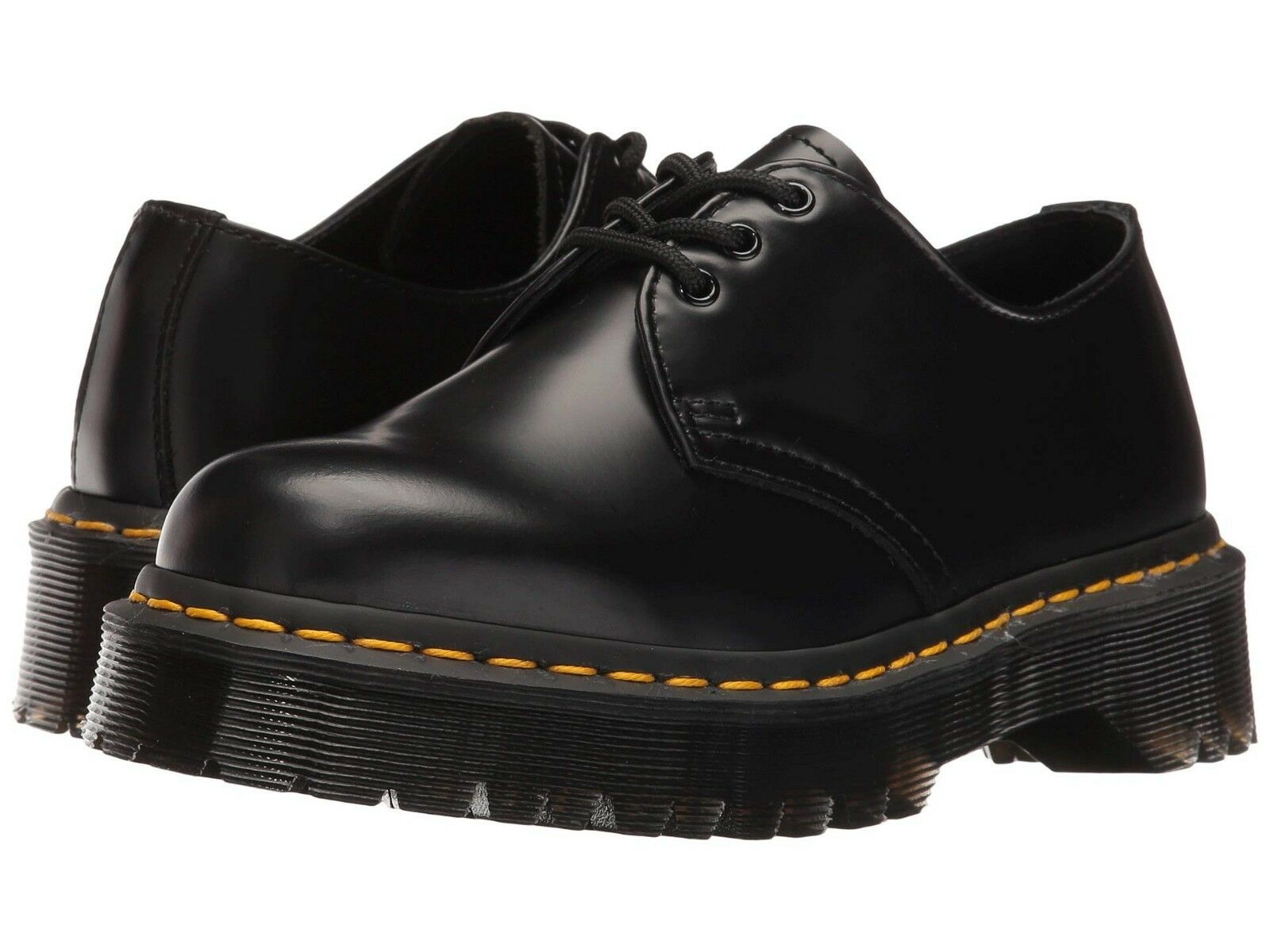NEW Mens Dr Martens 1461 Bex 3 Eye Black Smooth Leather Bex Oxford shoes