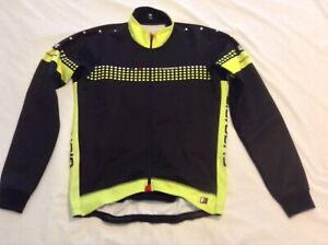 Giordana-Forma-Red-Carbon-Windproof-Winter-Jersey-42-inch-Chest