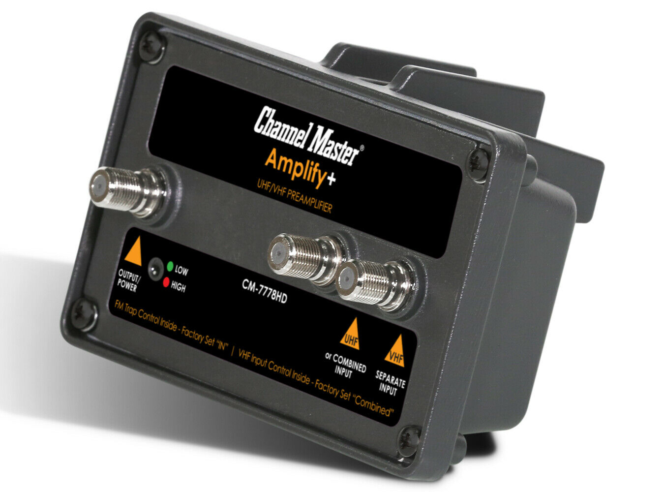 Channel Master Amplify+ Adjustable Gain Preamplifier Professional Grade 7778HD. Available Now for 99.00