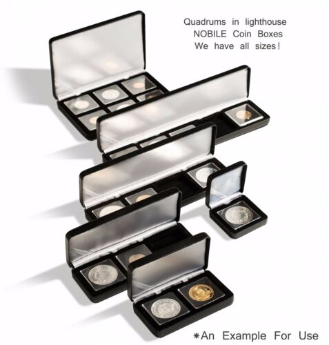 20 Lighthouse Quadrum 38mm Square 2x2 Coin Capsules Holders Large Dollars
