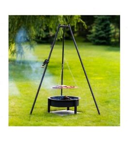 Garden fire elements pit tripod grill bonfire BBQ Meat Fish Fast Shipping UK | eBay