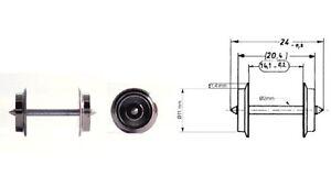 Fleischmann-H0-6560-AC-Wechselstrom-Radsatz-11-mm-10-Stuck-NEU