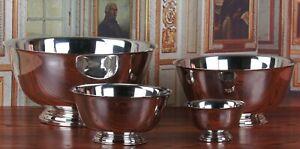 Vintage Silverplate Serving Bowls Set of 4