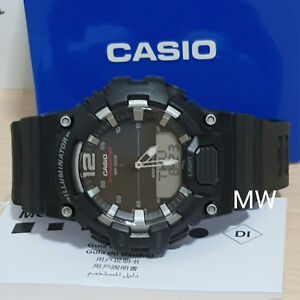 Casio-HDC-700-1A-Mens-Analog-Digital-Combination-Green-Resin-Band-Watch-New-100M