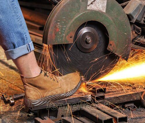 pour hommes Les respirantes de pour la perforation empêchent soudées et bottes en de travail la chaussures sécurité à cheville acier bout des rC04SqnCw