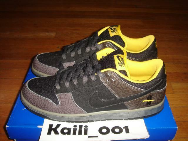 Nike Dunk Low Premium SB Size 11.5 Yellow Curb Cement Supreme 313170-010 B
