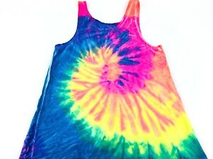 9d9af0a7584e33 Vintage Tank Top Neon Tye Dye Vintage Hippie tee Grateful Dead tee ...