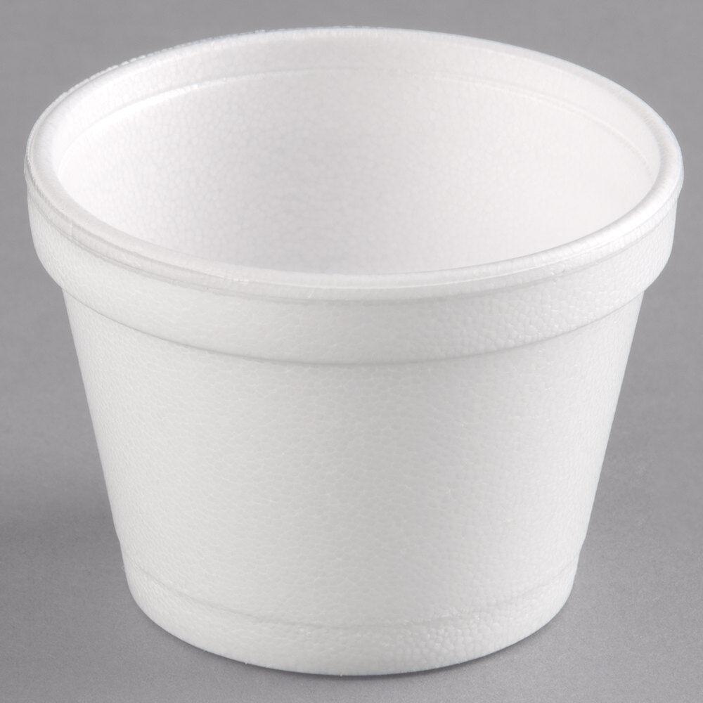 6 oz (environ 170.09 g) Dart solo Blanc Mousse Polystyrène soupe chaud froid Contenants De Nourriture 6SJ12 x1000