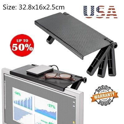 Adjustable Screen Top Shelf Durable TV Screen Caddy Screen Storage Rack Black US