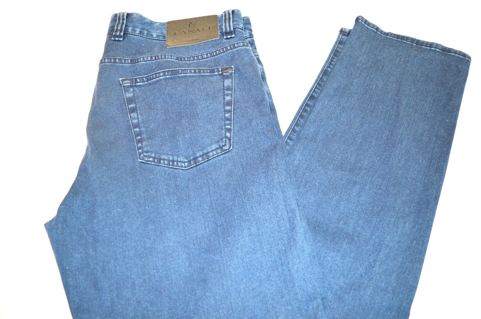 New Canali Cotton Denim bluee Jeans  Size 30 Us 46  Eu  Made in  Cod 3