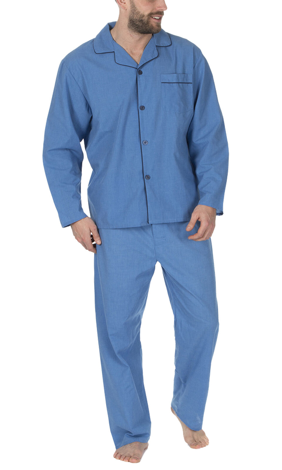 Cookies And Light Cream Mens Traditional Woven Pyjama Set Light And