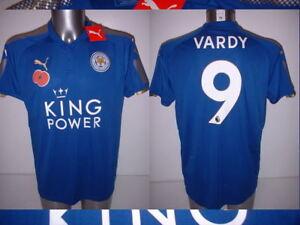check out 5dd48 01af1 Details about Leicester City Puma Poppy Vardy Mahrez Okazaki BNWT M L XL  Soccer Shirt Jersey