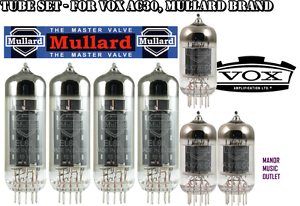 MULLARD Tube Set for Vox AC30 valves for Electric guitar amplifier
