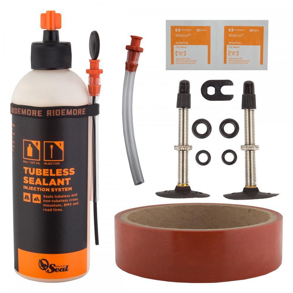 orange Seal Mountain Bike Complete Tubeless Kit