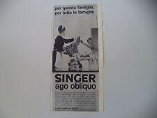 advertising Pubblicità 1963 MACCHINA PER CUCIRE SINGER 401/402/404